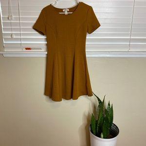 Forever21 Mustard Skater Dress